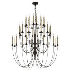 thomas o brien erika three tier chandelier by visual comfort