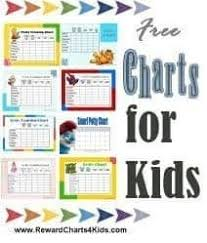 Charts For Kids Reward Charts 4 Kids