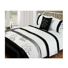 5pc bed in a bag silver black white duvet cover complete modern bedding set