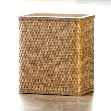 wicker garbage can wicker trash can with lid small size of rattan trash bin decorative cans wicker garbage can