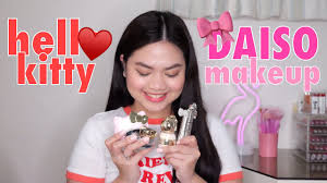 o kitty makeup demo review daiso missminechin