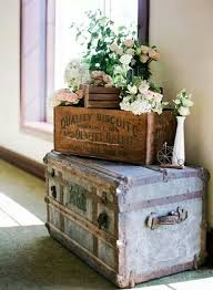 spring decor ideas find flat top trunks and wooden crates at railroad towne antique mall