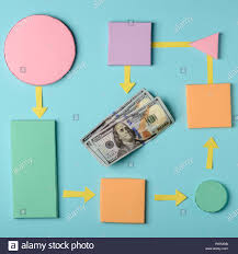 How To Make House With Chart Paper Making Money Process Chart Colorful Paper 3d Blocks And