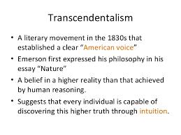 american transcendentalism good copy transcendentalism