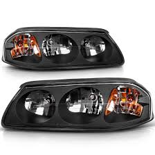 2005 Chevy Impala Fog Lights For 2000 2005 Chevy Impala Headlights Replacement Black Housing Amber Reflector Clear Lens