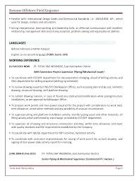 Oil Field Resume Templates Oil Field Resume Oilfield Resume