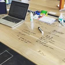 think board clear l stick dry erase board