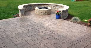 concrete patio. Fireplaces Rochester NY Outdoor Living Space Stamped Concrete Patio Concrete Patio W