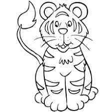 Small Picture Top 20 Free Printable Tiger Coloring Pages Online