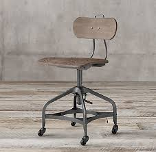 Vintage metal office chair Sturdy Restoration Hardware 1940s Vintage Toledo Desk Chair