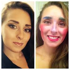 b a when i do my makeup and when my 3 and half year old does my makeup
