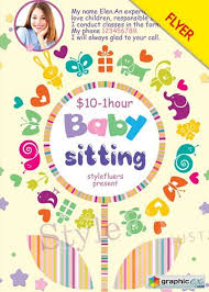Babysitting Flyer Template Babysitting Flyer V2 Psd Flyer Template Free Download