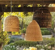 rattan pendant lighting. Grove Wicker Indoor/Outdoor Pendant Lights, Set Of 3 Rattan Lighting