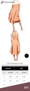 Cocktail Contemporary Dress Peach Color Size Medium Very