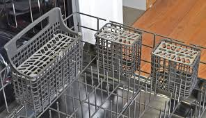 kenmore 14573 dishwasher. the cutlery basket can be split in three. kenmore 14573 dishwasher