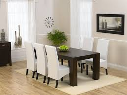 white leather dining room chairs. White Leather Dining Room Chairs Make A Photo Gallery Pics Of Enchanting Rectangle Modern Wooden E