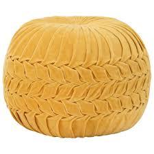 <b>Pouffe Cotton Velvet Smock</b> Design 40x30 cm Anthracite Sale, Price ...