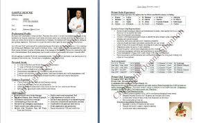 chef resumecv format for chef free cv