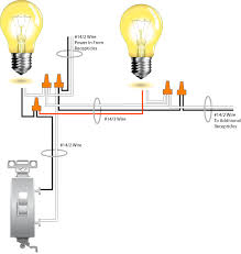 posts how to run two lights from one switch wiring