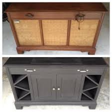 Cabinet Record Player Old Record Player Cabinet Transformed Into Mini Bar Cabinet