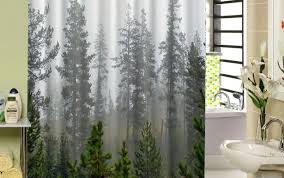 bath birch rings fabric hooks tree pine house dollar and curtain palm shower beyond brown inspiring