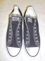 converse no laces. new converse mens black all star elastic slip on sneakers no laces 8.5 #converse x