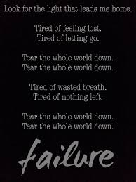 Lyrics To Lights Out By Breaking Benjamin Breaking Benjamin Failure Lyrics Benjamin Burnley Dark