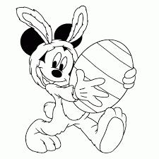 Kleurplaat Mickey Mouse Pasen Kleurplaten Tekeningen