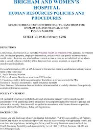Human Resources Confidentiality Agreement Templates | Download Free ...