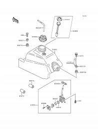 1994 kawasaki bayou 400 4x4 klf400b fuel tank parts best Basic Electrical Wiring Diagrams at 1994 Klf400b Wiring Diagram