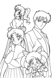 Sailor Moon Characters Anime Coloring Pages
