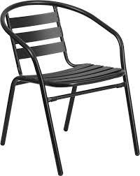 black metal outdoor furniture. Black Metal Restaurant Stack Chair With Aluminum Slats Outdoor Furniture