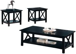 Black Coffee Tables Coaster 5909 Black Wood Coffee Table Set Steal A Sofa Furniture