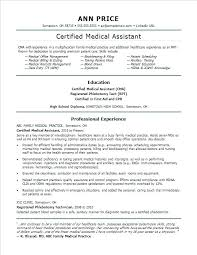 Medical Assistant Student Resume Physician Assistant Resumes Sample