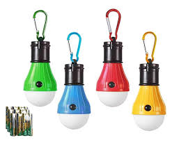 Hodorpower Led Camping Lantern 4 Pack Tent Lamp Emergency Bulb Light Outdoor Battery Operated Powered Waterproof Portable For Camping Hiking