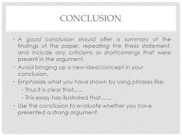 approaching a question structure outlining essays ppt  13 conclusion a good