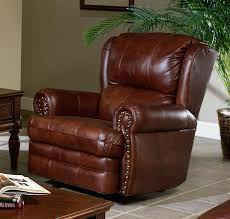 chestnut leather chair rocker recliner by 2 c