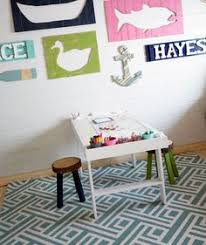 build an art play table for your kids using this free and simple project tutorial via ana white