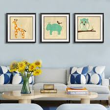 cartoon cute animals canvas paintings nursery wall art posters and prints pop toddler pictures for kids on toddler canvas wall art with cartoon cute animals canvas paintings nursery wall art posters and