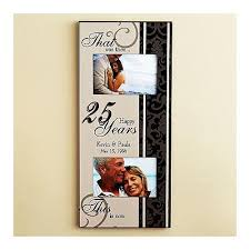 then and now anniversary frame amazing twenty fifth wedding anniversary presents for couples