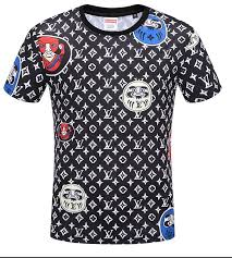 Louis Vuitton 2019 Brand Men Woman Ribbon T Shirt Loose Letter Half Sleeve Fashion Casual Short Sleeve Couple Wear New Products 203