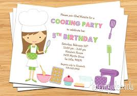 printable invitations for kids cooking party invitations kids baking birthday party invitation