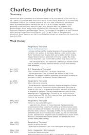 Respiratory Therapist Resume Samples Visualcv Resume Samples Database