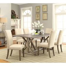 athens 7 piece dining set 1 799 99 quickview brighten up your dining room with this transitional style table and chair