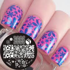 Aliexpress.com : Buy Pandox AP20 Mixed Flower Nail Art Stamp ...