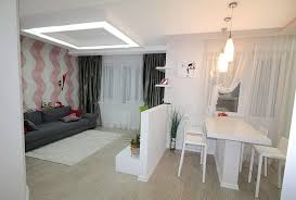 furniture to separate rooms. 3small kitchen interior with wall furniture to separate rooms