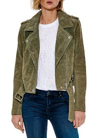 blank nyc suede moto jacket front cropped image