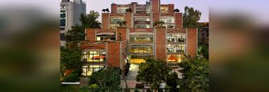 office block design. indian office block by spa design features brick arches and stepped rooftop gardens o