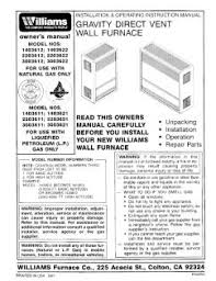 1403612 williams gravity direct vent wall furnace manual location