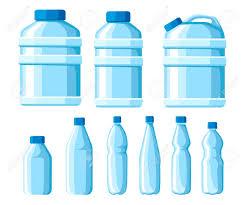 Water Bottles Templates Plastic Water Bottle Set Healthy Agua Bottles Vector Illustration